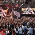 """Exclusif - Ofenbach - Enregistrement de l'émission """"La chanson de l'année"""" dans les arènes de Nîmes, diffusée en direct sur TF1 le 8 juin © Bruno Bebert / Bestimage"""