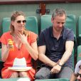 Judith El Zein et son compagnon - People dans les tribunes des Internationaux de France de Tennis de Roland Garros à Paris. Le 9 juin 2018 © Cyril Moreau / Bestimage