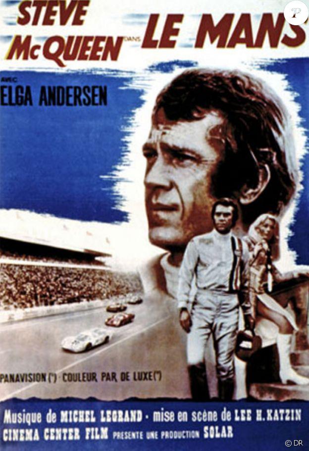 """Steve McQueen, héros du film """"Le Mans"""" en 1971."""