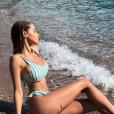 Nabilla Benattia sexy en bikini au Monténégro, début juin 2018.