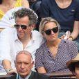 Arthur Sadoun et sa femme Anne-Sophie Lapix - People dans les tribunes des Internationaux de France de Tennis de Roland Garros à Paris. Le 9 juin 2018 © Cyril Moreau / Bestimage