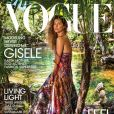 Gisele Bündchen en couverture du magazine Vogue. Photo par Inez et Vinoodh.
