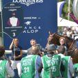 Le jockey Patrick Joseph McDonald vainqueur du Prix De Diane Longines - 169ème Prix de Diane Longines sur l'hippodrome de Chantilly, France, le 17 juin 2018. © Giancarlo Gorassini/Bestimage
