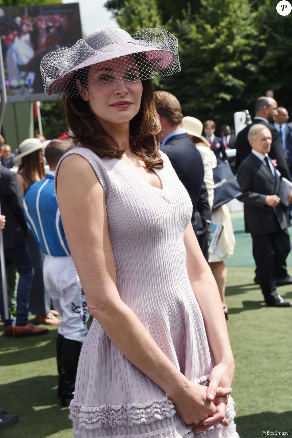Stephanie Seymour - 169ème Prix de Diane Longines sur l'hippodrome de Chantilly, France, le 17 juin 2018. © Giancarlo Gorassini/Bestimage