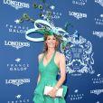 Sophie Thalmann (robe Christophe Guillarmé) - 169ème Prix de Diane Longines sur l'hippodrome de Chantilly, France, le 17 juin 2018. © Giancarlo Gorassini/Bestimage