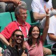 Bob Sinclar et une amie dans les tribunes des internationaux de Roland Garros - jour 5 - à Paris, France, le 31 mai 2018. © Cyril Moreau - Dominique Jacovides/Bestimage