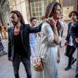 Exclusif - Bob Sinclar et sa femme Ingrid - Arrivées à la mairie - Mariage de Benjamin Castaldi et Aurore Aleman à la mairie de Marseille, le 27 août 2016. © Jacovides-Moreau/Bestimage