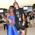 Exclusif - Roxane Depardieu et sa compagne Chantelle Broomes - People lors du Longines Paris Eiffel Jumping au Champ de Mars à Paris le 7 juillet 2018. © Perusseau/Veeren/Bestimage