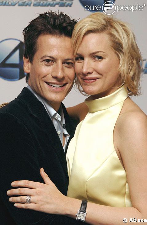 Alice Evans et son mari Ioan Gruffudd en juin 2007