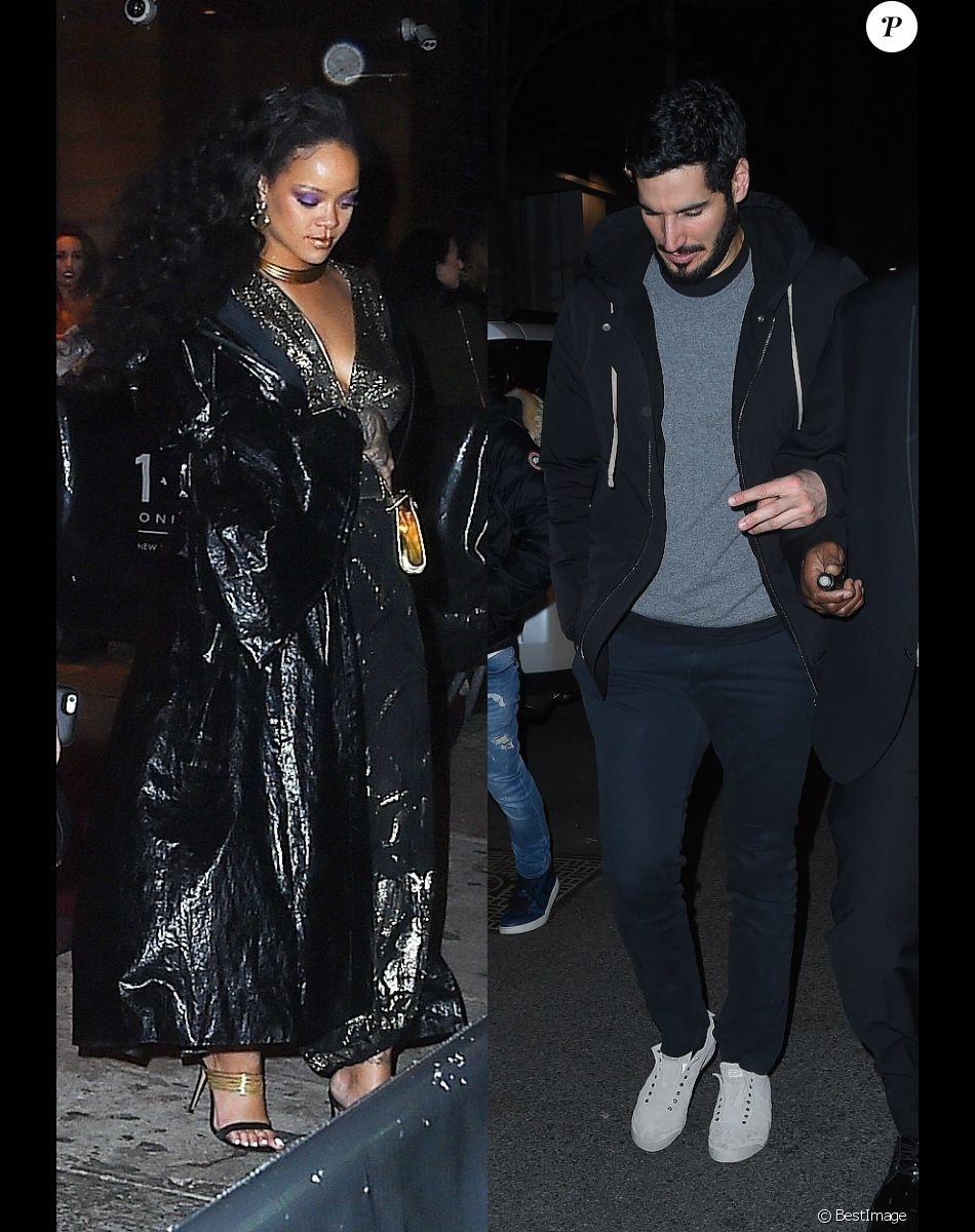 Rihanna et Hassan Jameel à New York. Le 28 janvier 2018.