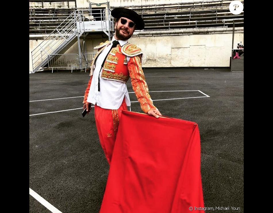 """Michaël Youn en Fatal Bazooka pour l'enregistrement du """"Bal du 14 juillet"""" sur TF1 - À Nîmes, le 11 juin 2018."""