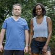 """Martin et Laetitia, le couple complice (44 et 37 ans), candidats de """"Pékin Express : La Course infernale"""" (M6)."""