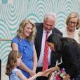 Le prince Harry, duc de Sussex et sa femme Meghan Markle, duchesse de Sussex arrivent au musée de l'émigration EPIC à Dublin le 11 juillet 2018