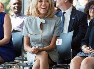 Brigitte Macron : Irrésistible en robe courte, la première dame séduit