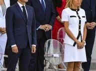 Brigitte Macron : Jupe courte et jambes bronzées, élégance pour le 14 juillet