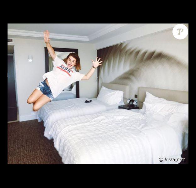 Camille Gottlieb au Méridien Beach Plaza de Monaco le 14 juillet 2018, à la veille de son 20e anniversaire. Photo Instagram.