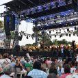 L'orchestre Philarmonique de Nice durant le concert du 14 juillet 2018 à Nice en hommage aux victimes de l'attentat du 14 juillet 2016 suivi d'un lâché de ballons et de l'allumage des 86 faisceaux lumineux depuis la Promenade des Anglais, symbolisant chacune des victimes. © Bruno Bebert/Bestimage