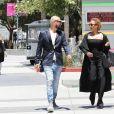 Exclusif - Mel B (Mélanie Brown) se rend au palais de justice accompagnée de son meilleur ami Gary Madatyan pour une audience concernant les procédures de son divorce avec son ex-mari S. Belafonte à Los Angeles, le 13 juillet 2018.