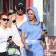"Mel B, Gary Madatyan - Exclusif - Mel B (Melanie Brown) et Gary Madatyan sur le tournage de ""For The Stars"" à West Hollywood, le 10 juillet 2018"