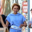 """Exclusif - Mel B (Melanie Brown) et Gary Madatyan sur le tournage de """"For The Stars"""" à West Hollywood, le 10 juillet 2018"""