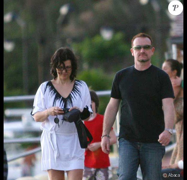Bono, sa femme Ali Hewson  le 5 avril à Saint-Barthelemy