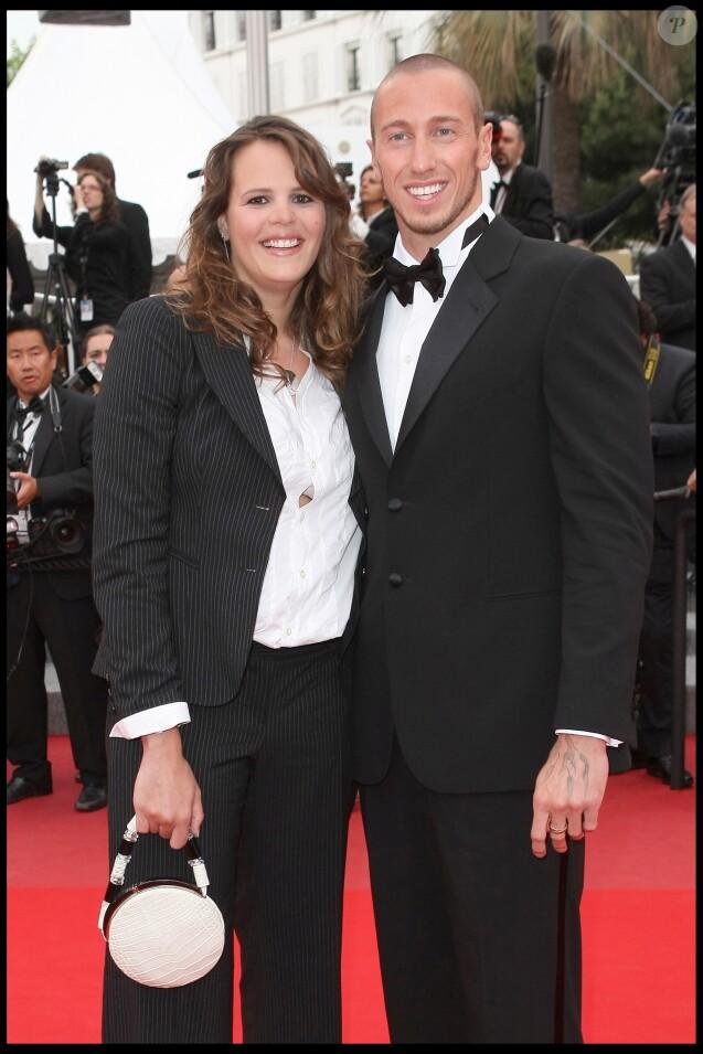"""Laure Manaudou et Frédérick Bousquet - Montée des marches du film """"La princesse de Montpensier"""" lors du 63e Festival de Cannes le 16 mai 2010."""