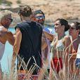 Exclusif - Le play-boy italien, Gianluca Vacchi, qui mène une vie de rêve sur Instagram passe ses vacances à Formentera en Espagne le 23 juillet 2018.