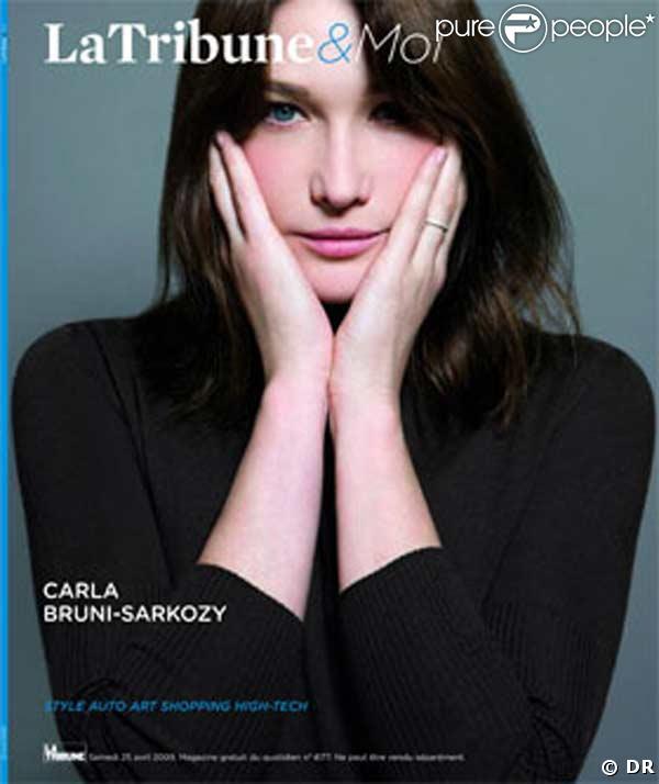 Carla Bruni en couverture de La Tribune & Moi