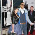 Kim Kardashian et un ami durant la première à New York du film Obsessed de Steve Shill