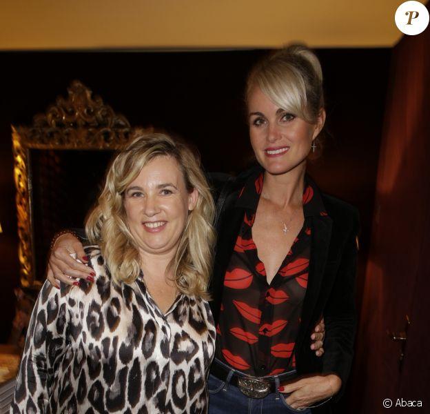Laeticia Hallyday et Hélène Darroze à Paris en 2014.