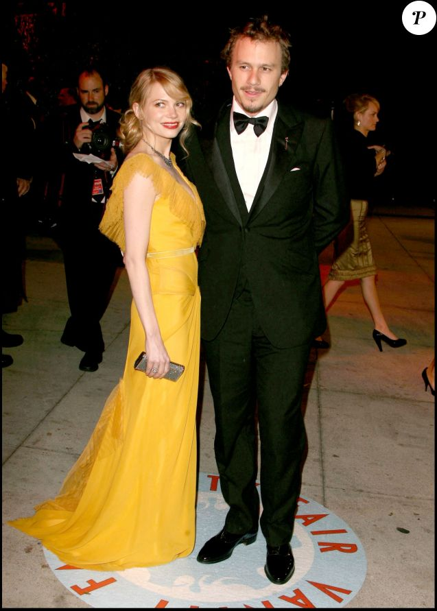 Heath Ledger et Michelle Williams à la Vanity Fair Oscar Party en mars 2006.