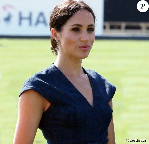 Meghan Markle, la Duchesse de Sussex au Royal Berkshire Polo Cup où le Duc participe aujourd'hui à la Coupe ISP Hanz de Sentebale à Windsor au Royaume-Uni le 26 janvier 2018