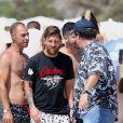Exclusif - Lionel Messi en vacances avec sa femme Antonella Roccuzzo et des amis à Formentera, le 27 juillet 2018.