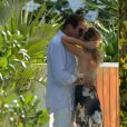 David Hasselhoff et sa compagne Hayley Roberts filent le parfait amour à Miami le 14 mai 2017.