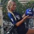 Hillary (La Villa) lors de la finale de la Coupe du monde de football à Paris - Instagram, 15 juillet 2018