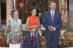 Letizia d'Espagne, radieuse avec Felipe VI et Sofia d'Espagne à la Almudaina