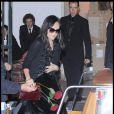 Zhang Ziyi quittant la soirée du mariage du couple Salma Hayek et François-Henri Pinault qui s'est déroulée à l'Opéra de Venise La Fenice le 25 avril 2009