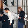 Lily Cole quittant la soirée du mariage du couple Salma Hayek et François-Henri Pinault qui s'est déroulée à l'Opéra de Venise La Fenice le 25 avril 2009