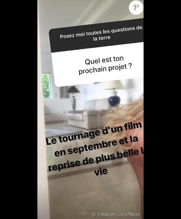 Lola Marois dévoile ses projets pour la rentrée - Instagram, 7 août 2018