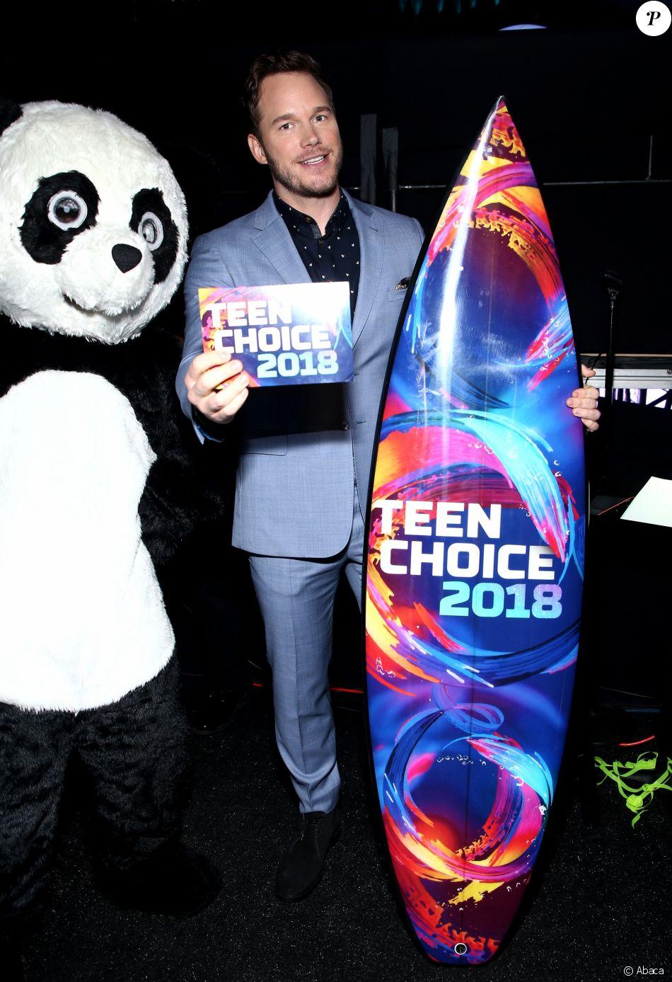 Chris Pratt au Teen Choice Awards 2018 à Los Angeles, le 12 août 2018.