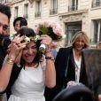 Exclusif - Mariage de Sandra de Matteis et Tomer Sisley à la Mairie du 8ème arrondissement de Paris, en présence de leurs enfants respectifs, Levin, Liv et Dino, de leurs familles et de leurs amis. Le 25 novembre 2017