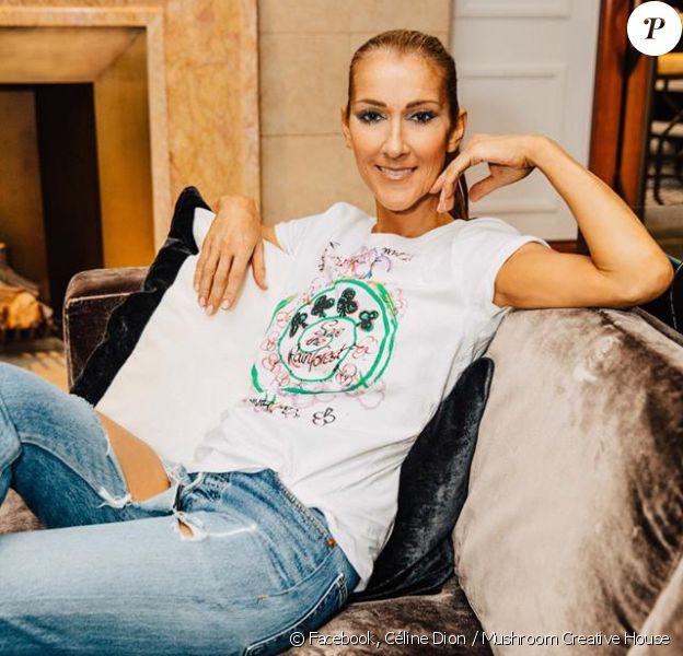 Céline Dion prend la pose pour l'ONG Cool Earth. Août 2018.