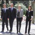 Carla Bruni, Nicolas Sarkozy, José Luis Zapatero et son épouse Sonsoles à Madrid. 28/04/09