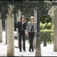 Carla Bruni et Sonsoles, à Madrid.