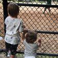 Amélie Mauresmo publie une photo de ses enfants Aaron et Ayla regardant du baseball à New York à Central Park. Instagram, le 21 août 2018.