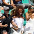 Susan Gossage encourage son compagnon Jérémy Chardy lors des internationaux de Roland Garros à Paris le 30 mai 2018. © Cyril Moreau-Dominique Jacovides-Bestimage