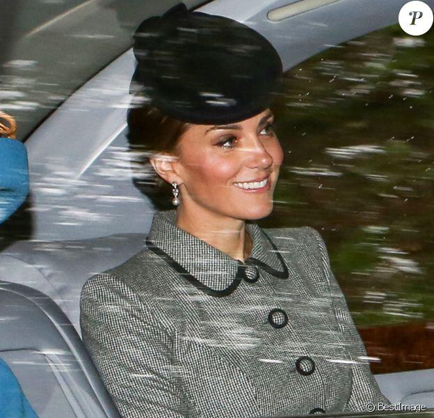 La reine Elisabeth II d'Angleterre et Catherine (Kate) Middleton, duchesse de Cambridge - La famille royale britannique arrive à l'église de Crathie pour assister à la messe du dimanche le 26 août 2018.