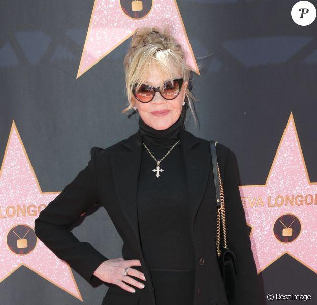 Melanie Griffith - E. Longoria enceinte reçoit son étoile sur le Walk Of Fame à Hollywood, le 16 avril 2018
