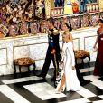Le prince Frederik de Danemark, la princesse Mary de Danemark, la Première Dame française Brigitte Macron (Trogneux), le prince Joachim de Danemark et la princesse Marie de Danemark - Arrivées au dîner d'Etat donné au château de Christiansborg en l'honneur de la visite du président de la République française et sa femme la Première Dame à Copenhague, Danemark, le 29 août 2018. © Dominique Jacovides/Bestimage