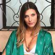 Camille Cerf en lingerie sexy. Novembre 2017.